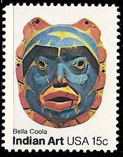 Bella Coola art USA STAMP
